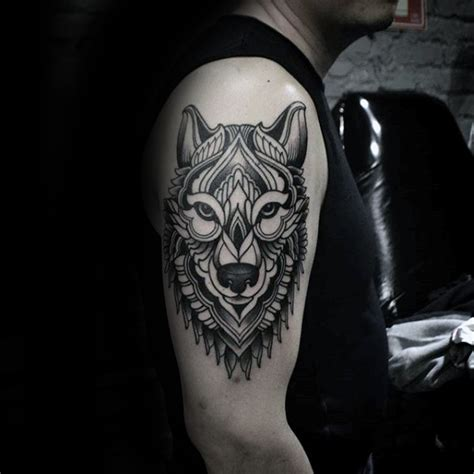 upper arm tattoo design best wolf to howl at the moon top 161 of all time