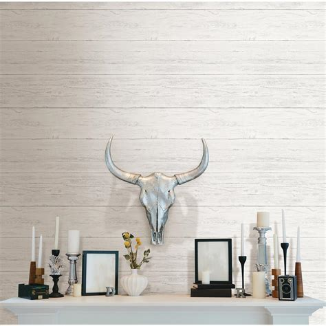shiplap wallpaper nuwallpaper white shiplap peel and stick wallpaper