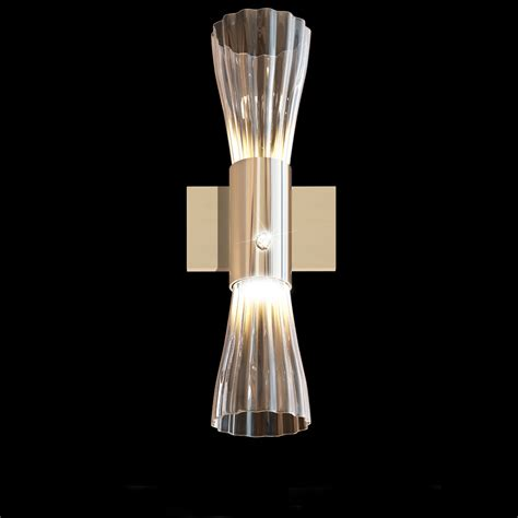 Glass Wall Lights Modern Gold Leaf Murano Glass Wall Light