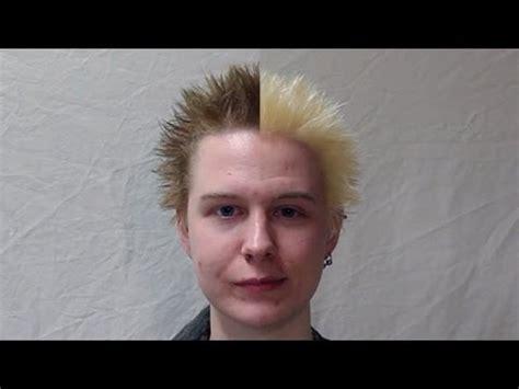 bleach spiked blond hair and hes a singer how to bleach short hair youtube