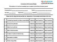 90 day performance review template sle letter of employee performance evaluation cover