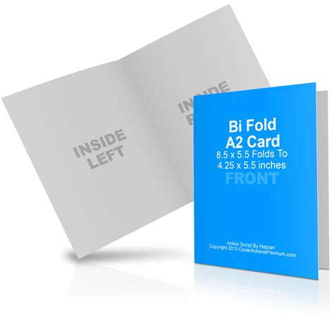 folded card template photoshop cs6 a2 bi fold card mockup cover actions premium mockup