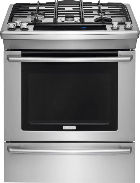 ranges dual fuel gas induction electrolux ew30ds80rs 30 inch dual fuel slide in range with 5 sealed burners 4 6 cu ft