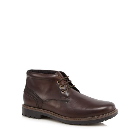 maine new mens brown waterproof chukka boots from