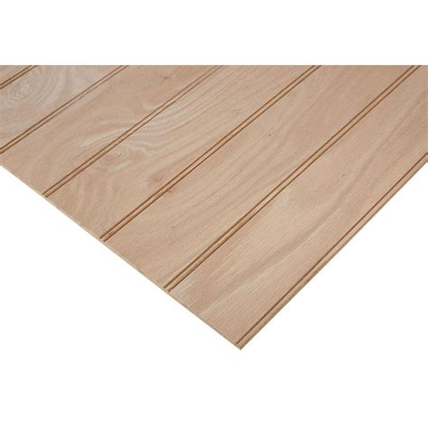 beaded plywood columbia forest products 1 4 in x 2 ft x 4 ft purebond