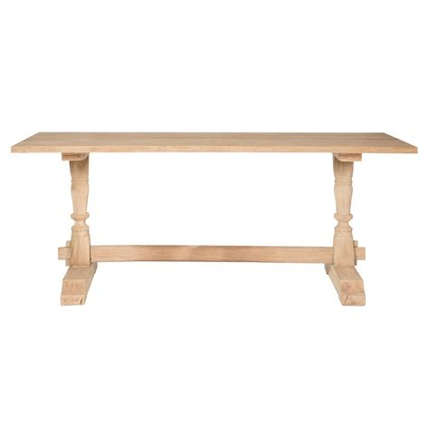 natural wood sofa table ophelia french country rectangular natural wood console