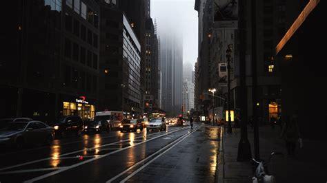 cars  road  buildings hd dark aesthetic