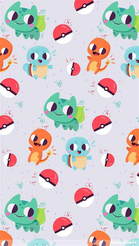 pokemon pattern iphone wallpaper cute bulbasaur charmander and squirtle pokemon iphone