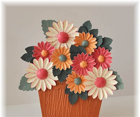 Paper Craft Flower Pot - mainly flowers independent stin up demonstrator