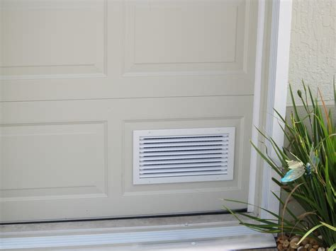 Garage Door Vents aluminum intake air vent cool garage