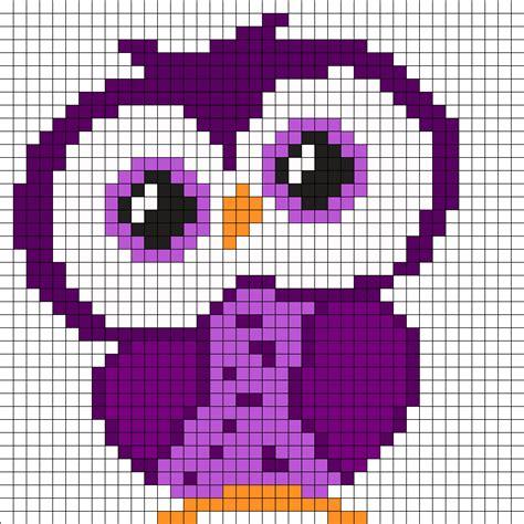 perler bead patterns owl purple owl perler bead pattern pinteres