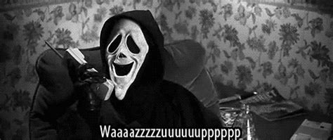 Scream Wazzup Meme - scary movie scream gif find share on giphy