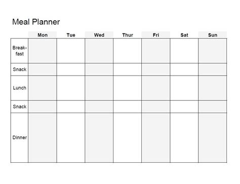 40 Weekly Meal Planning Templates Template Lab Diet Schedule Template