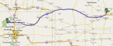 map of northeast colorado road map of nebraska and colorado
