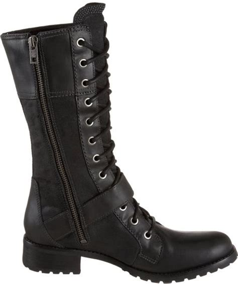 timberland womens bethel buckle knee high boot in black lyst