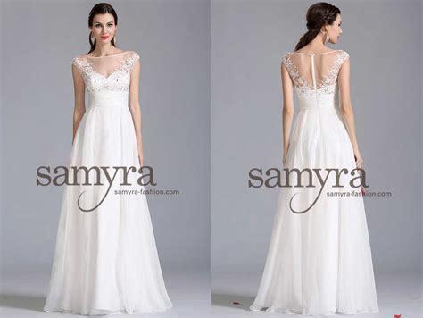 Brautkleider Abendkleider by Brautkleid Aus Chiffon Und Mit Spitze Samyra Fashion