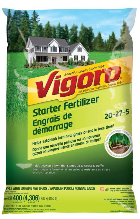 vigoro vigoro starter fertilizer 400m2 the home depot canada