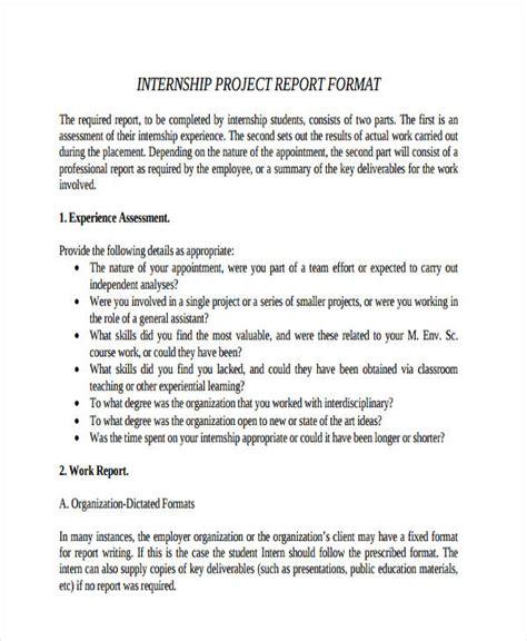 Internship Experience Report Essays by 9 Internship Report Exles Sles