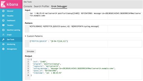 grok pattern exles getting started with the grok debugger kibana user guide