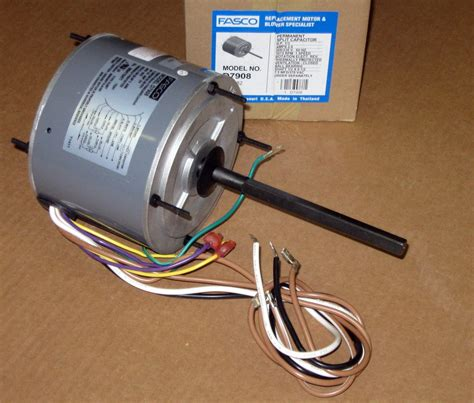ac condenser fan motor capacitor d7908 fasco 1 3 hp 1075 rpm ac air conditioner condenser fan motor tenv ebay