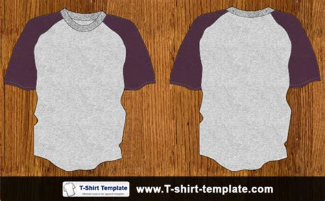Baju Raglan Silver youth raglan t shirt template 123freevectors
