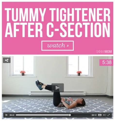 tighten tummy after c section home workout hacks with baby