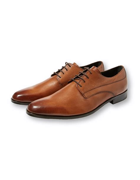 chaussures homme derby cuir camel perfor 233 brice