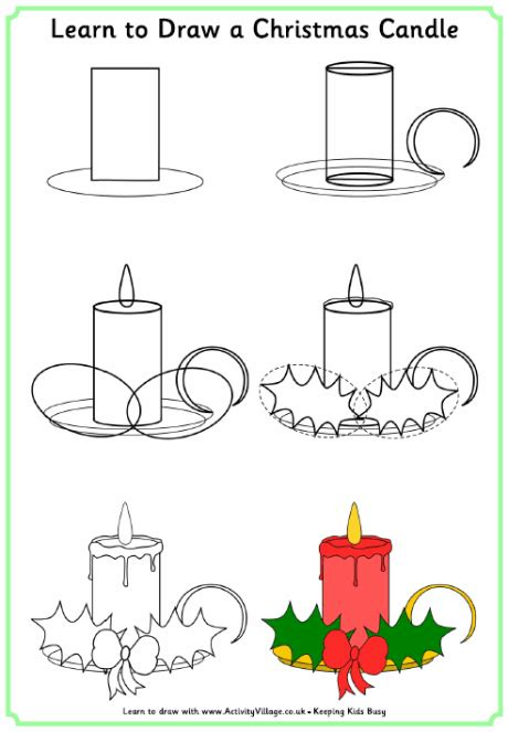 christmas pictures to draw step by step drawing