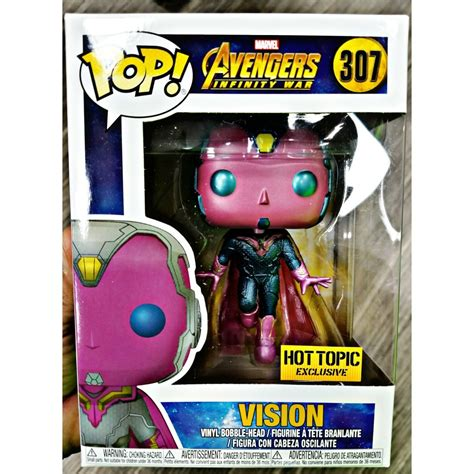 Funko Pop Marvel 2 Vision vision infinity war funko pop 307 topic excl