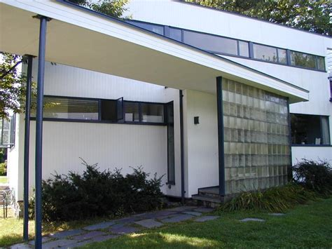 House Elevations by Lincoln Massachusetts Gropius House Main Entrance