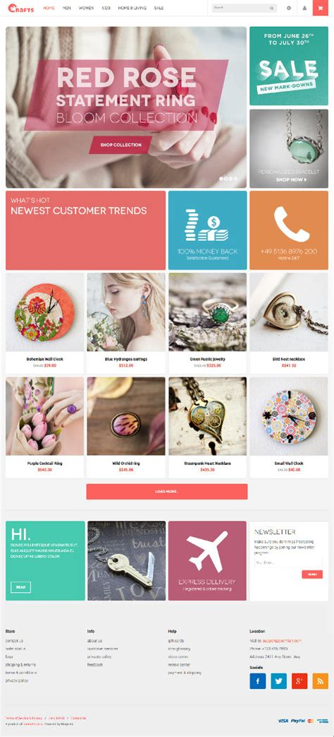 Handmade Craft Store - jm crafts magento handmade craft store theme