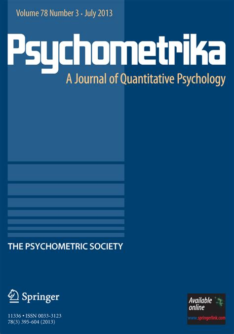 template for springer journals psychometrika springer template template