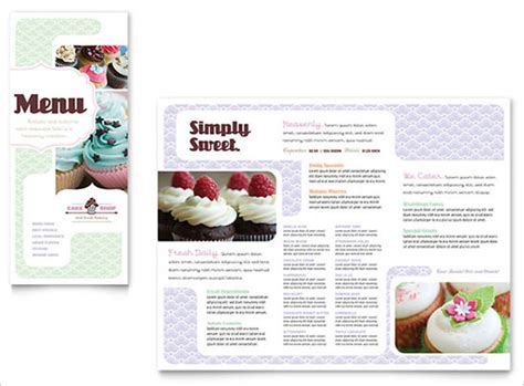free bakery menu template bakery menu templates 28 free word psd pdf eps