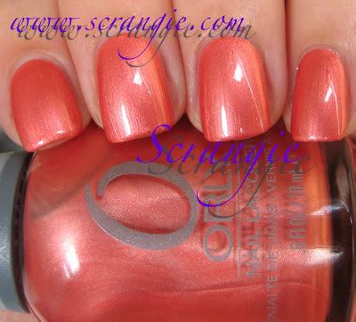 Orly Peachy Parrot scrangie orly birds of a feather collection fall 2011 swatches and review