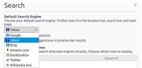 Change The Default Search Engine Of Firefox Address Bar Change Default Search Engine In Firefox For Linux Ask