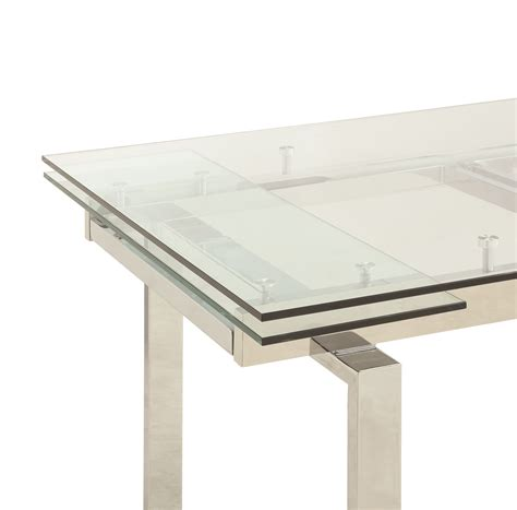 coaster glass dining table coaster modern dining 106281 contemporary glass dining