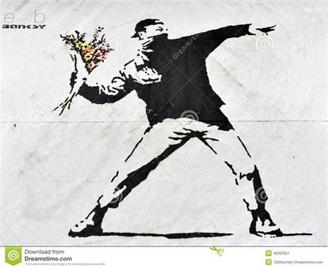 banksy street art editorial photo image  demonstration