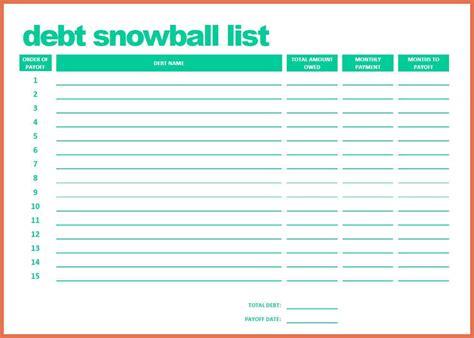 Debt Snowball Worksheet by 28 Snowball Debt Plan Worksheet Debt Snowball