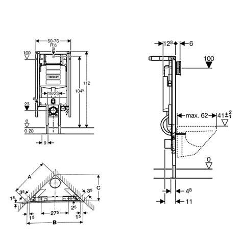 afmeting toilet reservoir geberit duofix inbouwreservoir closet tbv hoekmontage
