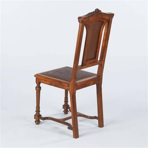1800s Furniture by Renaissance Style Leather Seat Chair Late 1800s At