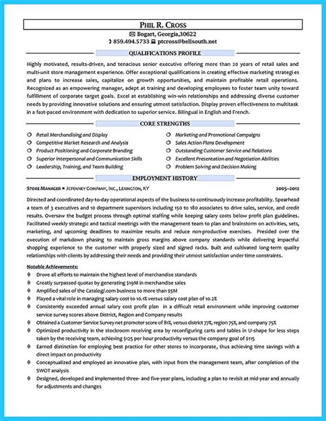 Retail Manager Objective Resume by Crafting A Great Assistant Store Manager Resume