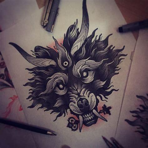 tattoo flash wolf tattoo tattoos tattooart art tattooflash sketch wolf