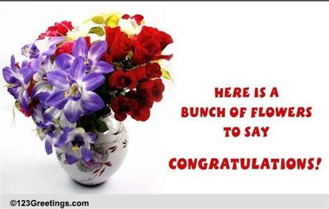 Bunch Of Flowers To Say  Free Graduation Party eCards