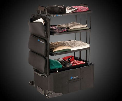shelfpack travel suitcase with shelves fun gadget world