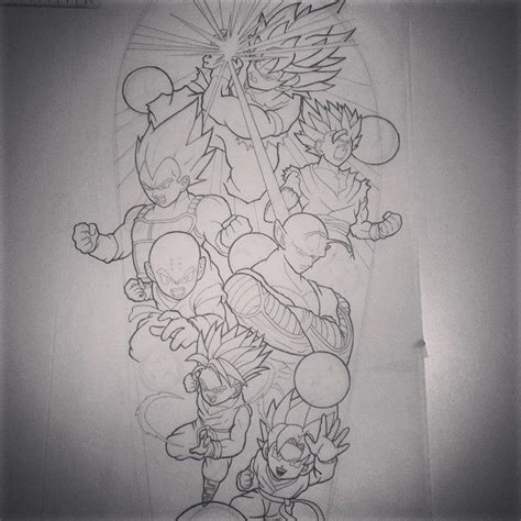 dragon ball tattoo designs 28 best sleeve idea images on