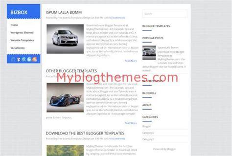 blogger themes business bizbox myblogthemes