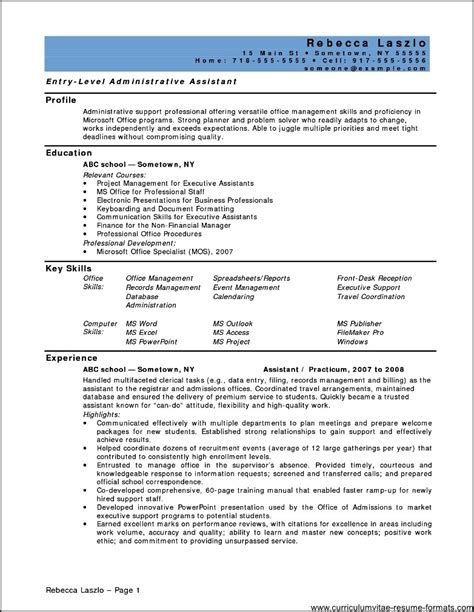Resume For Position by Resume For Office Assistant Position Free Sles