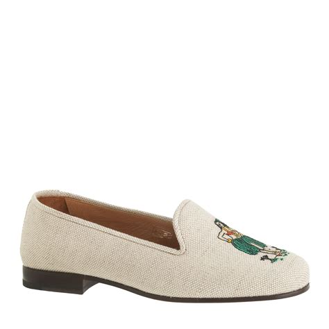 jcrew slippers j crew stubbs wootton for classic linen slippers in white