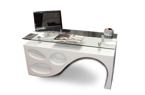 white desk modern contemporary white office desk
