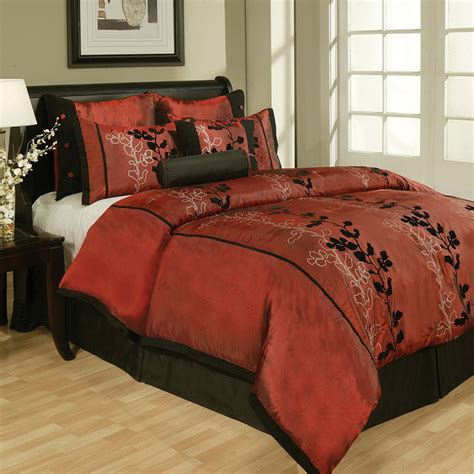 cali king comforter sets 8 piece cal king laurel flocked bedding comforter bedding set